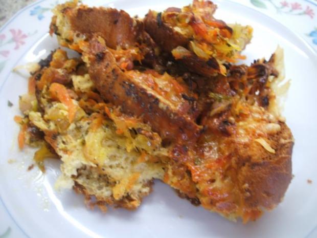 Auflauf: Brotauflauf mit Karotten - Rezept
