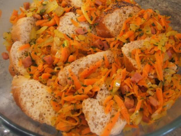 Auflauf: Brotauflauf mit Karotten - Rezept - Bild Nr. 5