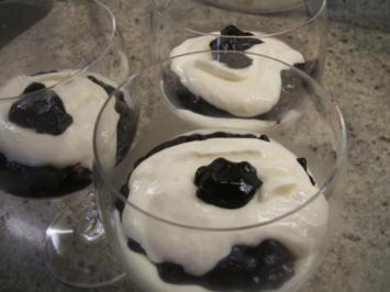Dessert: Quark mit Heidelbeergrütze - Rezept