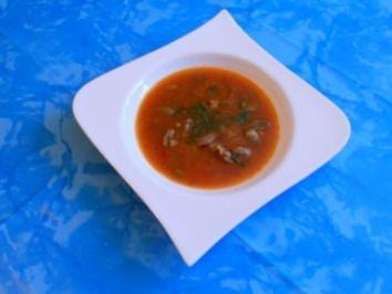 Suppe:Tomatierte Herzensuppe - Rezept