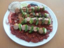 Currywurst-Spieße - Rezept