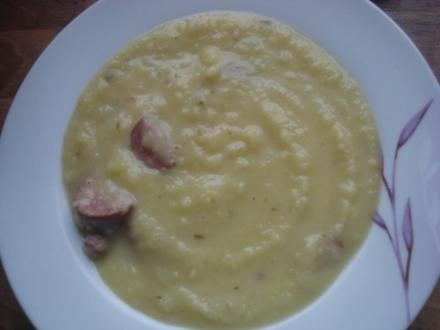 Deftige Kartoffelsuppe mit Cabanossi - Rezept