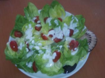 Rezept: Kopfsalat in Dilljoghurt