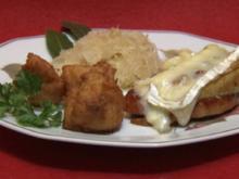 Kasseler mit Birne und Preiselbeeren überbacken, dazu Königskartoffeln (Ralf Dammasch) - Rezept