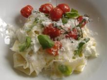 Pappardelle mit Ricotta und Ofentomaten - Rezept