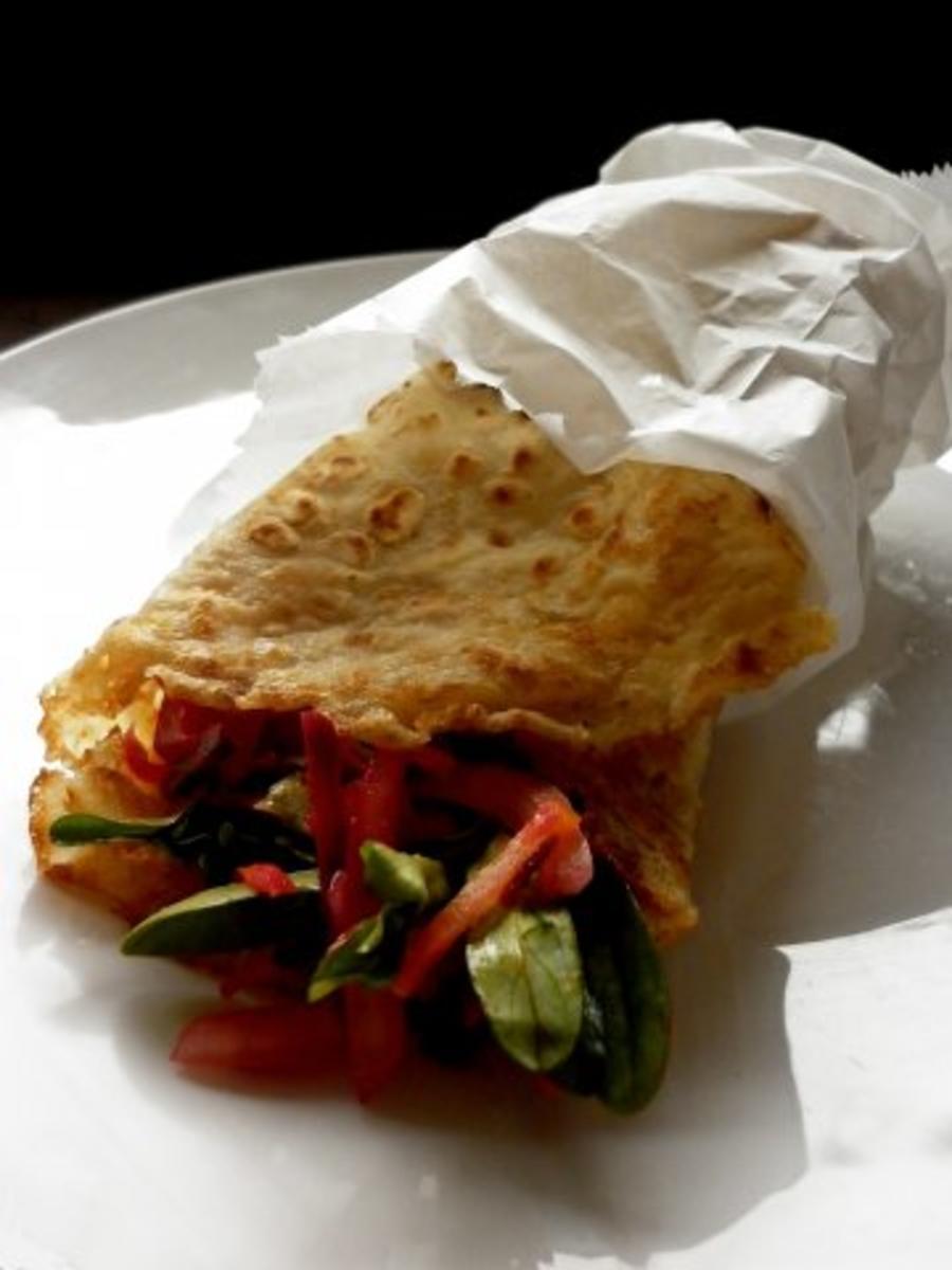 Hafer - Wrap mit Salat - Rezept Von Einsendungen schwarzmond