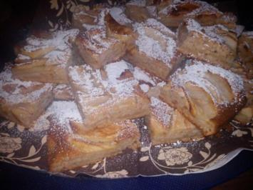türkischer Apfel- Mandel Blechkuchen - Rezept
