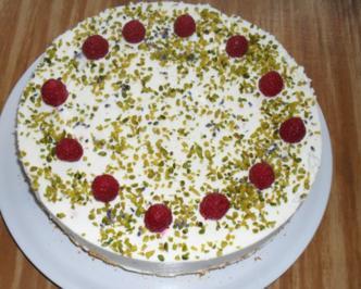 Rezept: Himbeer - Lavendel - Torte
