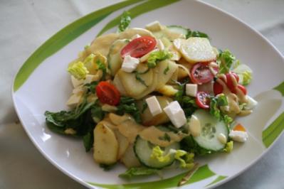 Salat: Bratkartoffel - Rezept