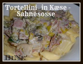 Rezept: BiNe` S TORTELLINI IN KÆSE - SAHNESOSSE