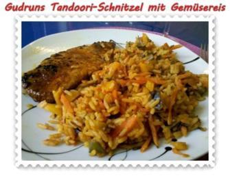 Fleisch: Tandoori-Schnitzel mit Gemüsereis - Rezept