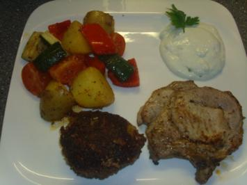 Koteletts mit mediteranen Gemüse - Rezept