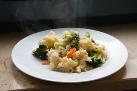 Couscousgemüsepfanne mit Fisch - Rezept