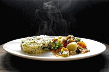Ratatouille mit Spinat-Cous-Cous - Rezept