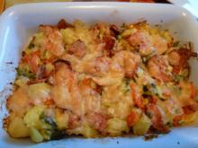Kartoffel-Gemüse-Fleischwurst-Auflauf - Rezept