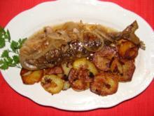 Fisch : Süß-sauer eingelegte Bratsardinen ersatzw. Heringe vom allerfeinsten. - Rezept
