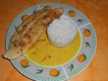 Kochen:Pangasiusfilet gebraten mit einer Cocos-Kurkuma Sosse - Rezept
