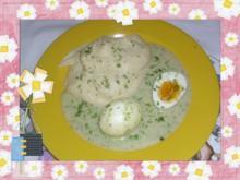Eier in feiner Kräutersoße - Rezept