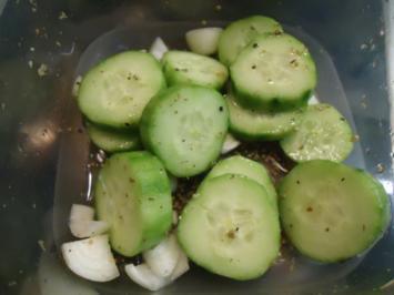 Schüttelgurken - Rezept