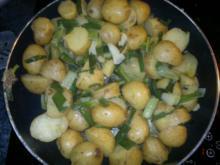 Kartoffelpfanne mit Frühlingszwiebeln - Rezept