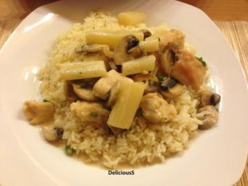 Puten-Spargel Pfanne mit Reis - Rezept