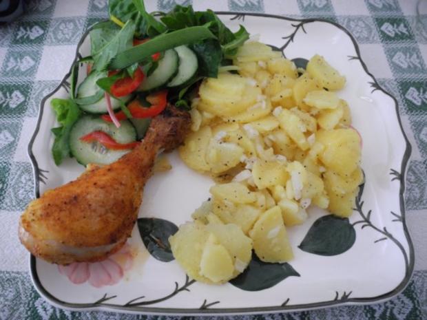 Salat : Schnellen warmen Kartoffelsalat - Rezept