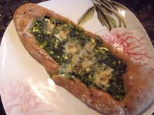 Spinat-Käse-Pide - Rezept