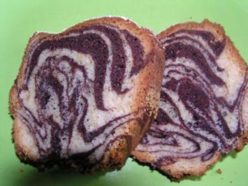 Zebrakuchen mit Kaffeelikör - Rezept