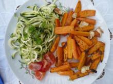 Rohkost mit gebackenen Süßkartoffeln und div. Gewürzen - Rezept