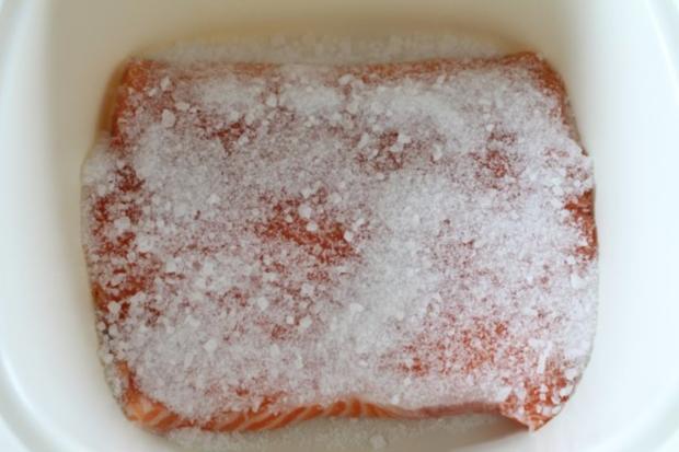 Gebeizter- Lachs mit Honig-Senf-Soße - Rezept - Bild Nr. 4