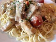 Spaghetti in Tomaten-Tofu-Sauce - Rezept