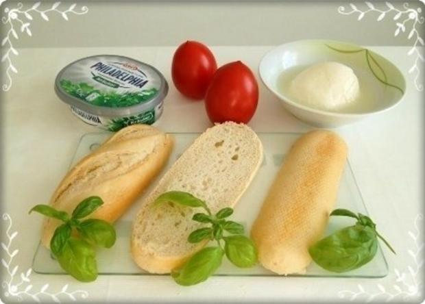 Tomate-Mozzarella Baguettes überbacken - Rezept - Bild Nr. 6