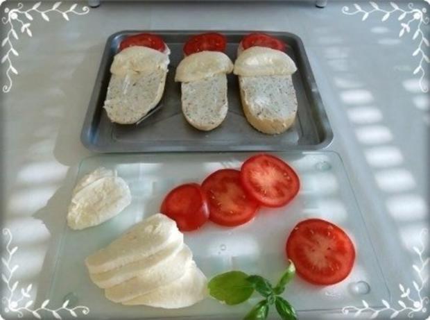 Tomate-Mozzarella Baguettes überbacken - Rezept - Bild Nr. 11
