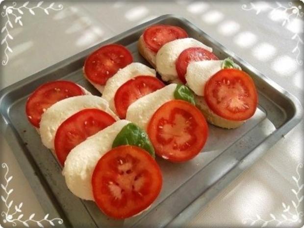 Tomate-Mozzarella Baguettes überbacken - Rezept - Bild Nr. 13