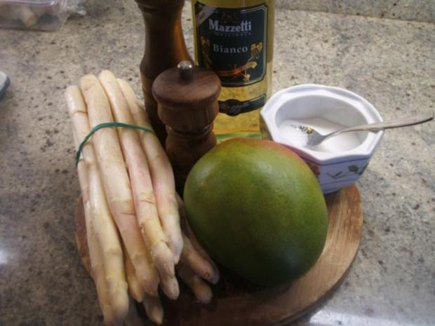Salate: Spargelsalat mit frischer Mango - Rezept - Bild Nr. 2