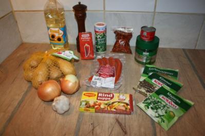 Kartoffelgulasch, einfach und schnell - Rezept