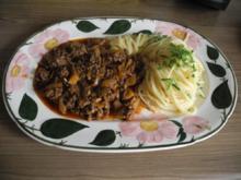 Unter 30 Minuten : Zwiebelhackfleisch mit Spaghetti - Rezept