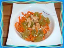 Salate : Möhren - Kohlrabi - Trauben - Rezept