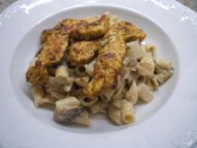 Salate: Nudelsalat mit Spargel und würzigen Putenstreifen - Rezept