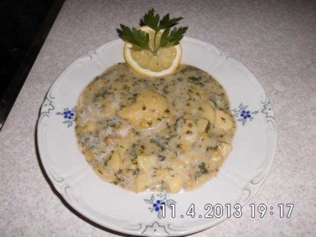 Kartoffeln in Kräuter-Sahne-Sauce - Rezept