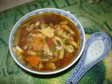 Saure chinesische Suppe à la Ivanka - Rezept