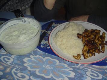 Gyros mit Reis und Zatziki - Rezept