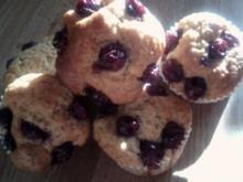 Kirschmuffins mit Haferflocken - Rezept