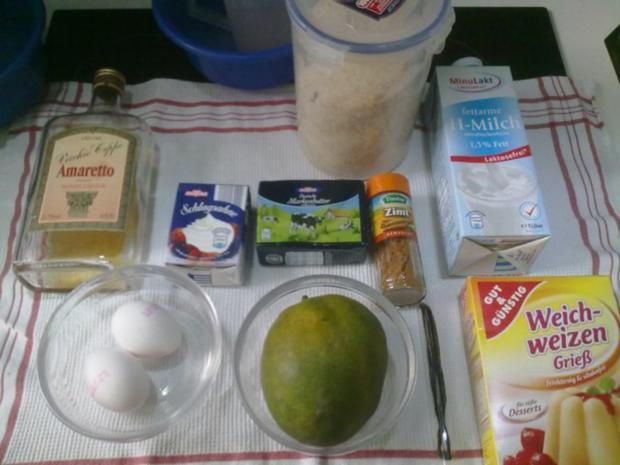 Selbstgemachtes Grießbrei mit Apfel-Mango-Stück - Rezept - Bild Nr. 2