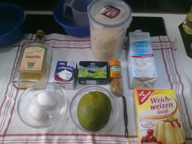 Selbstgemachtes Grießbrei mit Apfel-Mango-Stück - Rezept - Bild Nr. 3