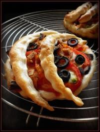 Paprika-Oliven-Snack - Rezept