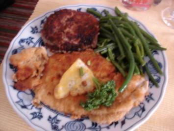 Schollenfilet mit extra feinen Bohnen und Walnuss-Kartoffeltaler - Rezept
