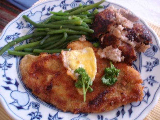 Schollenfilet mit extra feinen Bohnen und Walnuss-Kartoffeltaler - Rezept - Bild Nr. 6