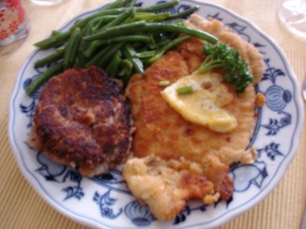 Schollenfilet mit extra feinen Bohnen und Walnuss-Kartoffeltaler - Rezept - Bild Nr. 7