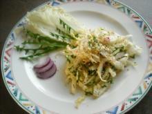 Chinakohl-Löwenzahn-Salat mit Ingwer-Dressing - Rezept